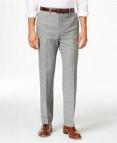 Lauren Ralph Lauren Men's Wool Grey Windowpane Flat Front Classic-Fit Dress Pants