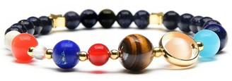 West Coast Jewelry ELYA Solar System Natural Stone Beaded Stretch Bracelet