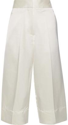 Victoria Beckham Cropped Silk-blend Satin Wide-leg Pants