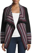 Joie Dagna Striped Wool Open-Front Cardigan