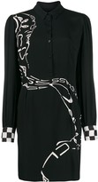 Class Roberto Cavalli long-sleeve shirt dress