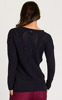RVCA Junior's Krystalized Jacquard Knit Scoop Neck Pullover Chunky Sweater