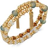 INC International Concepts Gold-Tone 2-Pc. Set Multi-Bead Stretch Bracelets, Created for Macy's