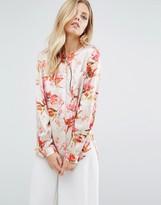 BOSS ORANGE By Hugo Boss Floral Print Long Sleeve Blouse