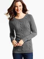 Talbots Cabled Bobble Sweater