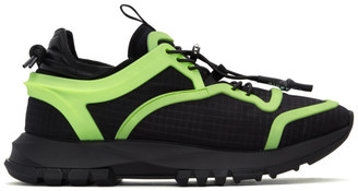 Givenchy Black and Green Spectre Cage Runner Sneakers
