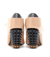 Fendi Lace-up ankle boots with studded heel