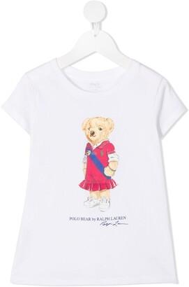 Ralph Lauren Kids logo bear print T-shirt