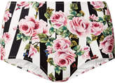 Dolce & Gabbana High-rise Printed Bikini Briefs - Antique rose