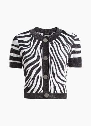St. John Zebra Jacquard Knit Jacket