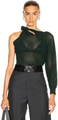 Givenchy Twisted Mesh Sweater in Green | FWRD