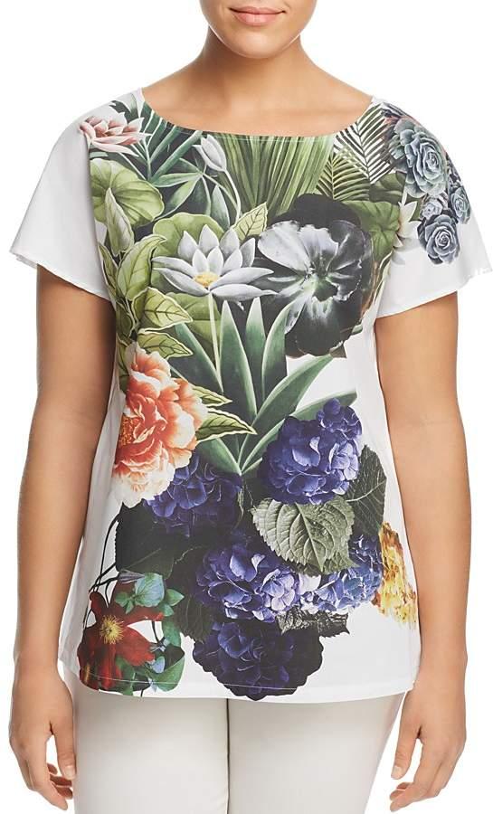 Marina Rinaldi Borgo Botanical-Print Top