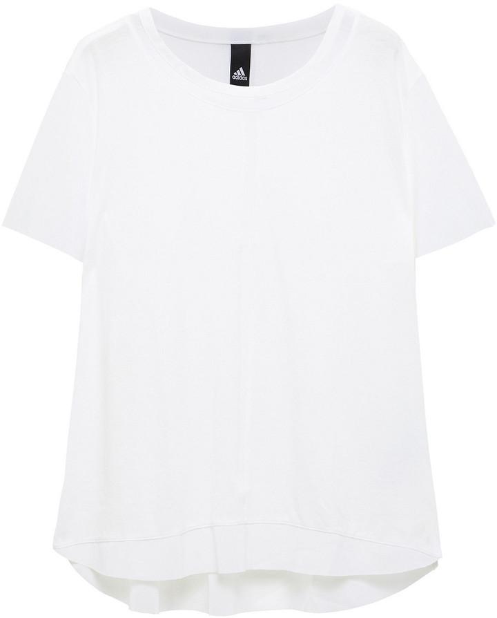 adidas Paneled Mesh And Stretch-jersey T-shirt