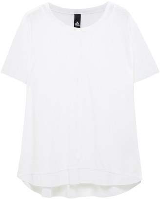 adidas Paneled Mesh And Stretch-jersey T-shirt