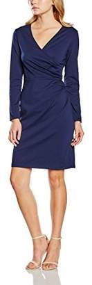 Yumi Women's Ponte Wrap Long Sleeve Dress