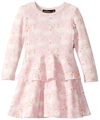 Rock Your Baby Swannie Long Sleeve Layered Dress (Toddler/Little Kids/Big Kids)