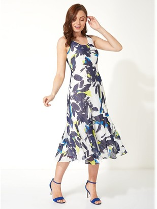 M&Co Roman Originals floral bias cut midi dress