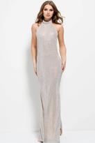 Jovani 50909 Halter Embellished Backless Dress