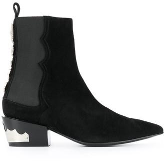 Toga Pulla Embellished Ankle Boots