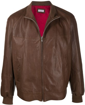 Brunello Cucinelli Zipped-Up Bomber Jacket