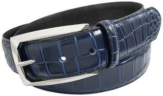 Stacy Adams Ozzie Croc Embossed Leather Belt