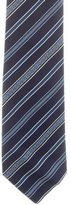 Versace Silk Logo Striped Tie