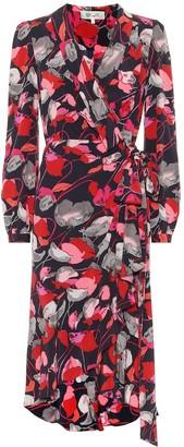 Diane von Furstenberg Carla Two silk-crApe wrap dress