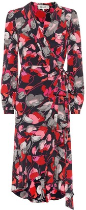 Diane von Furstenberg Carla Two silk-crepe wrap dress