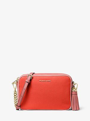 MICHAEL Michael Kors Ginny Medium Two-Tone Pebbled Leather Crossbody Bag
