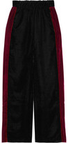 Eight Paneled Velvet Wide-Leg Pants