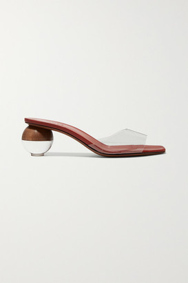 Neous Opus Pvc And Leather Mules - Tan