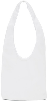 The Row White Small Bindle Tote