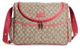 Gucci Infant Rose Bud Gg Supreme Diaper Bag - Metallic