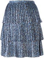 MICHAEL Michael Kors pleated floral print skirt - women - Polyester - 4