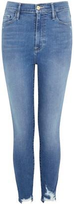 Frame Ali blue distressed skinny jeans