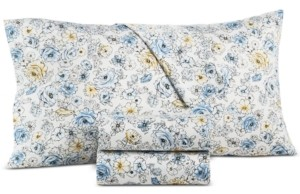 Charter Club Damask Designs 550-Thread Count Supima Cotton Outline Floral Pair of King Pillowcases, Created for Macy's Bedding