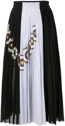 Jil Sander Crochet-Detail Pleated Skirt