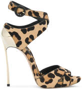 Casadei leopard print Blade sandals