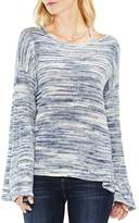 Vince Camuto Cutout Shoulder Space Dye Sweater