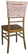 Wedding Linens Inc. Chiavari Chair Covers Caps Sequin Spandex Stretch Chair Cover Cap for Wedding Party Banquet Events - Blush Pink