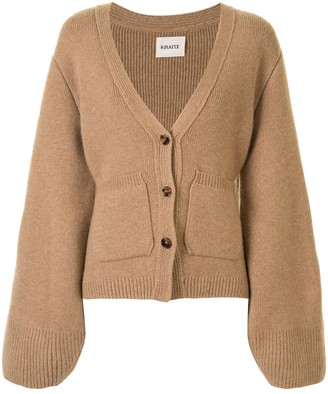 KHAITE Buttoned Wide-Sleeved Cardigan