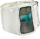 Robert Lee Morris Rectangle Sculptural Hinged Bangle Bracelet