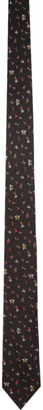 Paul Smith Black Silk Floral Tie