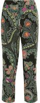 Etro Paisley-print Silk Straight-leg Pants - Black