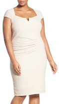 Marina Plus Size Women's Cutout Shimmer Sheath Dress