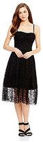 Antonio Melani Alecia Strapless A-Line Midi Lace Dress