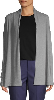 Pure Navy Long-Sleeve Open-Front Cardigan