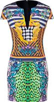 Just Cavalli Multicolored Circus Elephant Print Dress