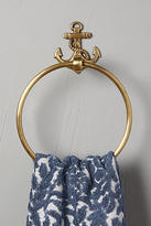 Anthropologie Brass Anchor Toilet Paper Holder
