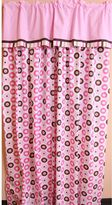 Bacati Mod Dots and Stripes Pink Curtain Panel